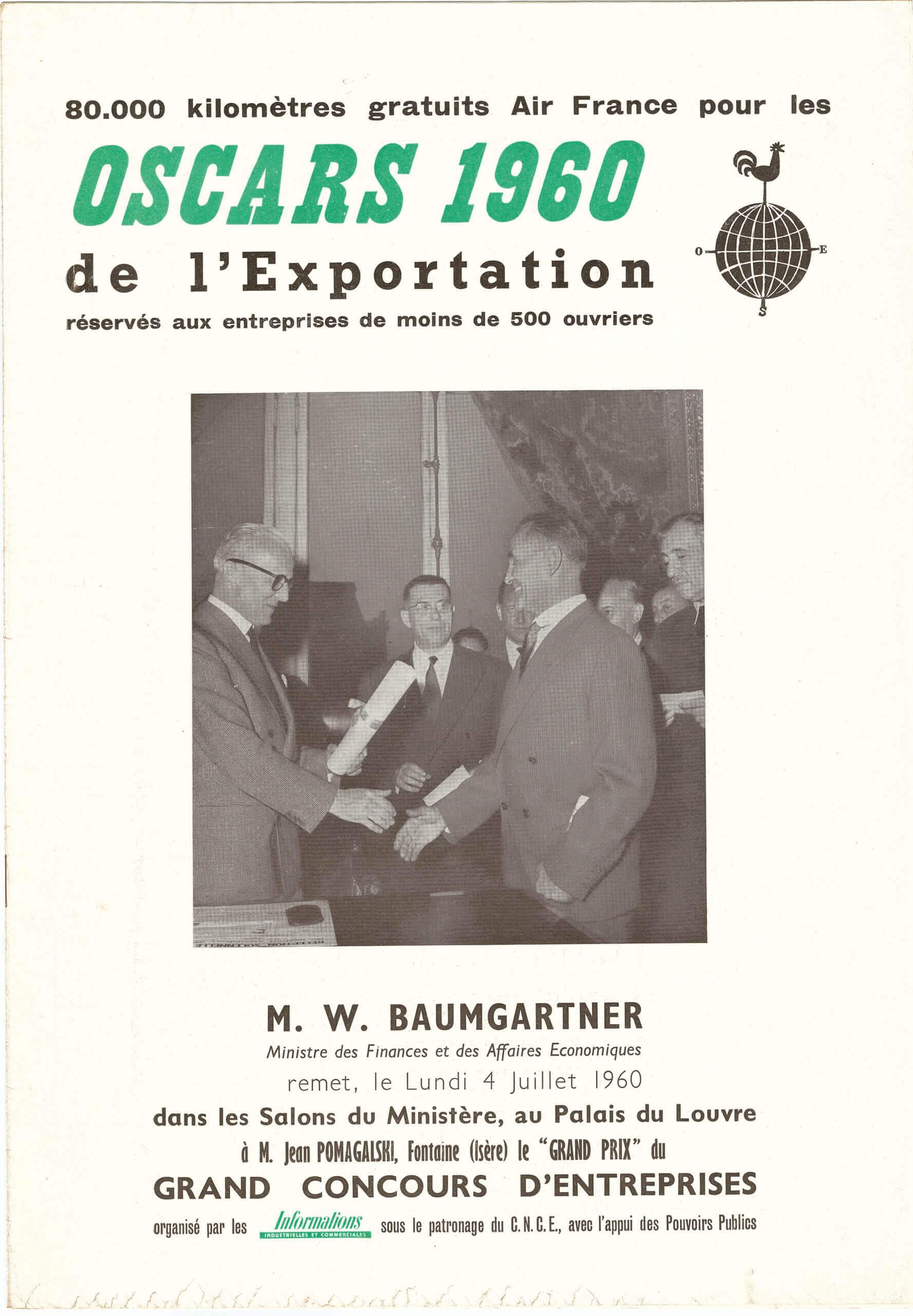 Oscar de l'exportation POMA en 1960